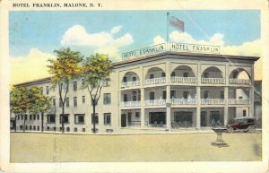 Hotel Franklin Malone New York NY 1924 Santway Photo-Craft Company White Border