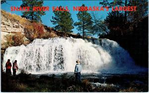 SNAKE RIVER FALLS, NE Nebraska  View of Falls, Largest in State  c1950s Postcard