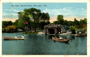 WI - Milwaukee.   Mitchell Park, The Lake  (creases)