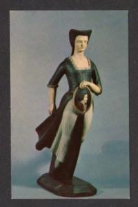 MA Samuel McIntire Figure SALEM MASSACHUSETTS Postcard