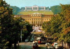 Austria Wien Vienna Schloss Schooenbrunn und Gloriette With Trolleys
