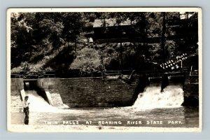 Scenic View Of Twin Falls, Roaring River State Park Missouri RPPC Postcard
