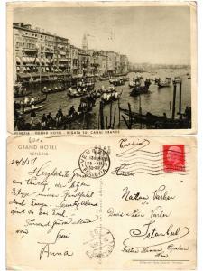 CPA Venezia. Grand Hotel-Regata sul Canal Grande. ITALY (521472)