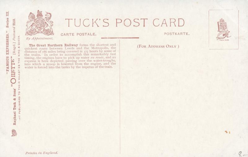 UK Railroad Train ; G.N.R. King's Cross, 00-10s ; TUCK