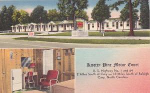CARY, North Carolina, 1930-40s; Knotty Pine Motor Court