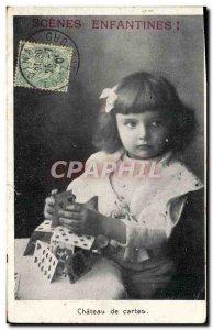 Old Postcard Fancy childish Scenes Children Chateau cards