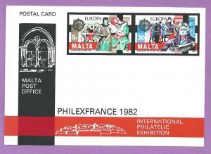 Malta #614-615 Europa Postal Card