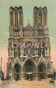 122 Old Postcard Reims cathedral