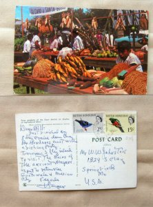 Farm Products Cayo District at Agricultural Show, Postcard Vtg, British Honduras