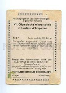167018 Olympic Winter Games CORTINA d'Ampezzo CIGARETTE card