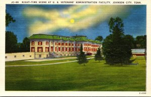 Tennessee Johnson City U S Veterans Administration Facility At Night