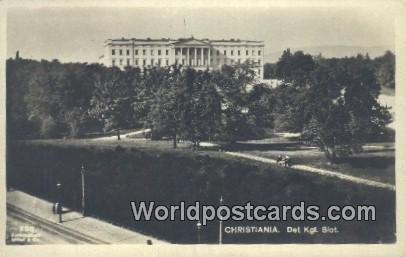 Det Kgl Slot Christiania Norway Unused