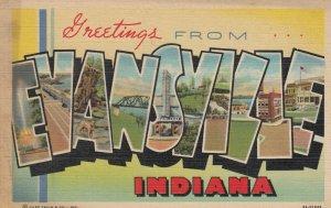 Large Letter EVANSVILLE , Indiana, 30-40s