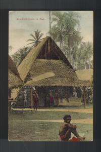 Mint New Guinea RPPC Postcard Asa Kult Haus in Siar with Natives