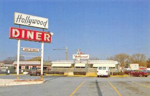Dover DE Hollywood Diner Old Cars Trucks Postcard