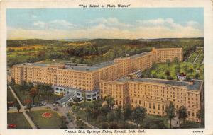 French Lick Indiana~French Lick Springs Hotel Pluto Water~1941 Postcard