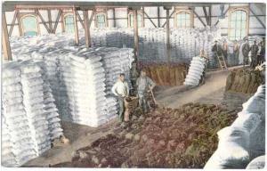 Interior of Flour Mill Stockton California CA, Divided Back