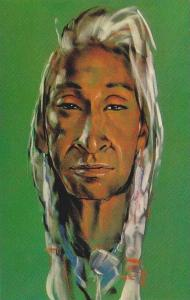 AS: Pastel Painting, Indian Chief, Gerda Christofferson, West Vancouver, Brit...