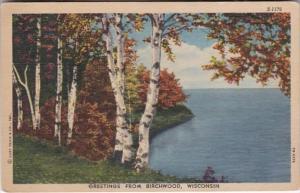 Wisconsin Greetings From Birchwood 1955 Curteich