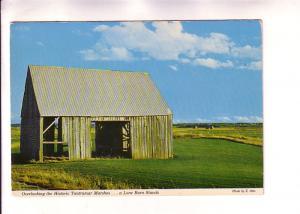 Lone Barn Near Acadian Dykes, Tantramar Marshes, Amherst, Nova Scotia,