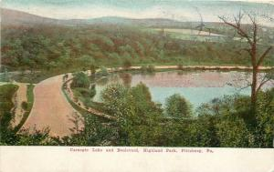 Pittsburgh Pennsylvania~Highland Park~Carnegie Lake and Boulevard~1908 Postcard
