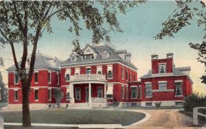 Geneva New York~City Hospital from Street Entrance~1913 Postcard