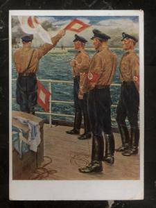 1938 Berlin Germany Patriotic Postcard cover the navy competitions of the SA