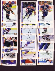 (21),Edmonton Oilers 1993 Score Hockey Cards Including Vladimir Vujtek, Tyler...