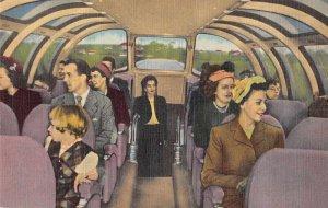 Wabash Streamliner Blue Bird Observation Parlor Train Car Postcard AA1843