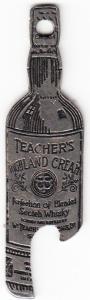 Teacher's Highland Cream Key Chain Bottle Opener