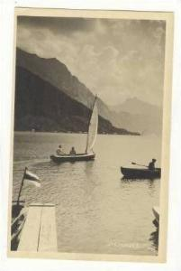 RP Sailboat on Traunsee lake in the Salzkammergut, Austria, PU 1928
