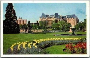 Victoria, B.C. Canada Postcard THE EMPRESS HOTEL Building View w/ 1952 Cancel