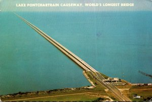 Louisiana New Orleans Lake Pontchartrain Bridge World's Longest Bridge