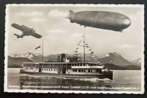 Mint Picture Postcard Dornier DOX Giant Seaplane Graf Zeppelin 127