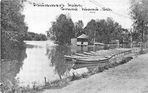 Grand Island NE Schimmer's Lake Boats C. U. Williams Publisher Postcard