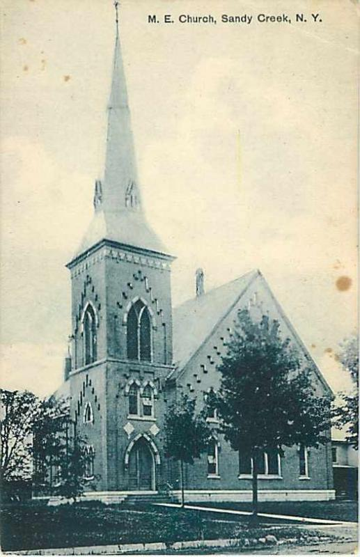 M.E. Church in Sandy Creek New York 1910 Divided Back NY