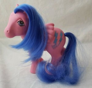 1984 Firefly's Adventure My Little Pony Movie Firefly G1 W/ Blue Lightening