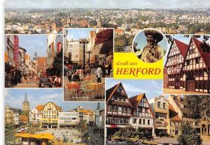 Gruss aus Herford, Gehrenberg Neuer Markt Backerstrasse Bruederstrasse Panorama