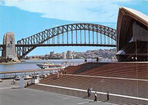 Sydney Australia View Towards the Harbour Bridge Sydney Harbour Bridge Across...