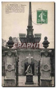 Old Postcard Bazeilles Ossuary This is naked crypt Army