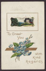 To Greet You With Kind Regards,Flowers Postcard