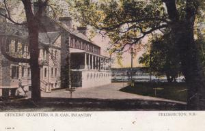 FREDERICTON, N.B., Canada, 1908 ; Officer's Quarters, R.R. Can. Infantry