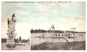 Wisconsin Mukwonago , YMCA Phantom Lake Camp , Swimming Pier