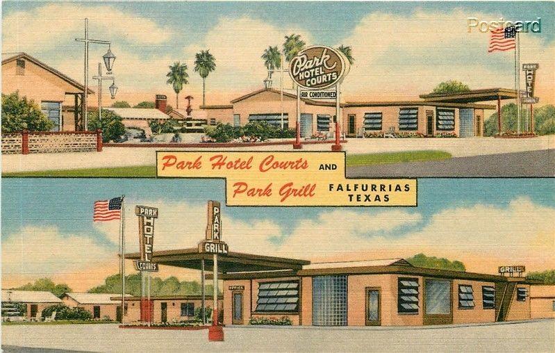 Tx Falfurrias Texas Park Hotel Courts And Grill Curteich No