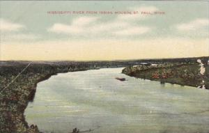Minnesota Saint Paul Mississippi River From Indian Mounds