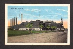 Cuba View of Sugar Mill Vintage Postcard PC 1928 Habana Havana Carte Postale