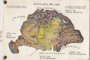 Austria-Hungary Mechcanical map , 1910s