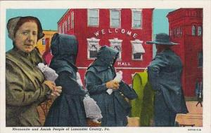 Pennsylvania Lancaster Mennonite And Amish People Of Lancaster County