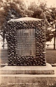 Washington Pasco Sacajawea Park Lewis and Clark Monument Real Photo