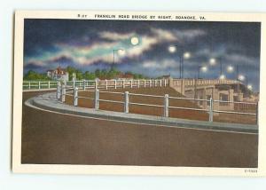 Vintage Postcards R-27 Franklin Rd Bridge  Bridge Roanoke  Virginia # 1787
